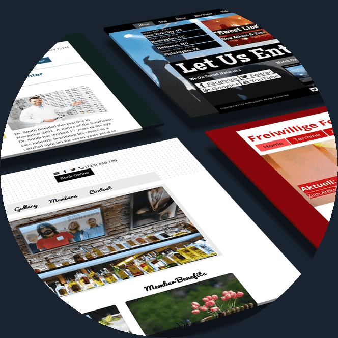 Sitesmaker: Homepage Baukasten